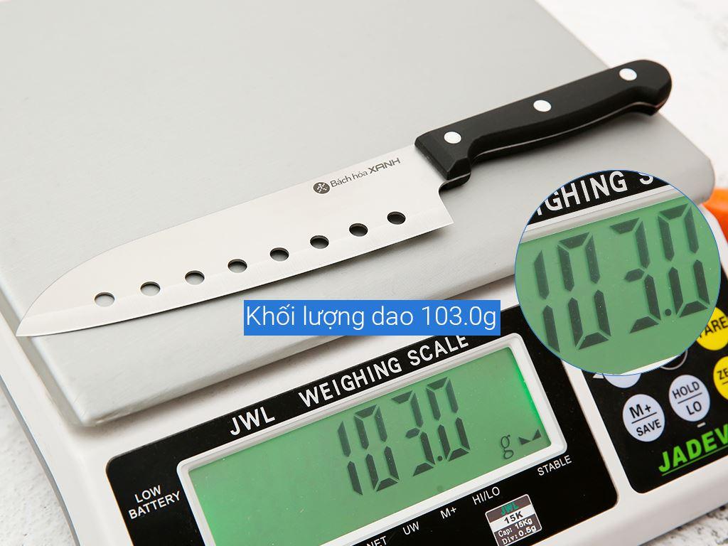 Dao thái inox có lỗ 30cm Bách hoá XANH CH003-Q 9