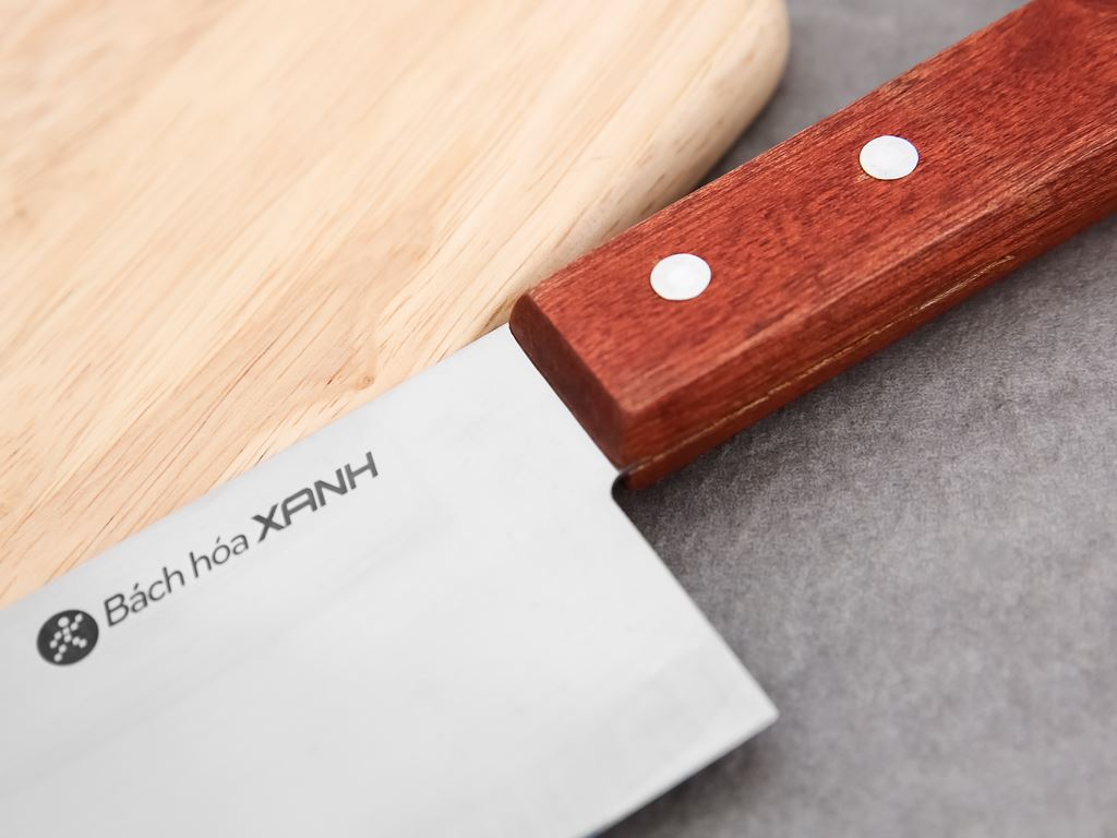 Dao thái lớn cán gỗ 30.5cm Bách Hoá Xanh W-02 5