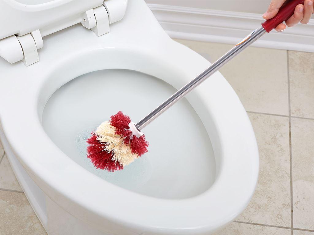 Cọ toilet Mega Home có cán đầu tròn 46cm 3