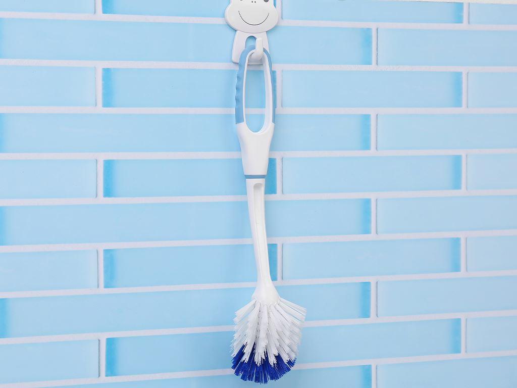 Bàn chải nhựa vệ sinh nhà tắm có râu Tashuan 32cm 6