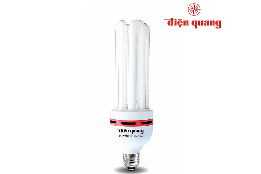 Đèn Compact Điện Quang-CFL-4U-F14-45W-DL-E27