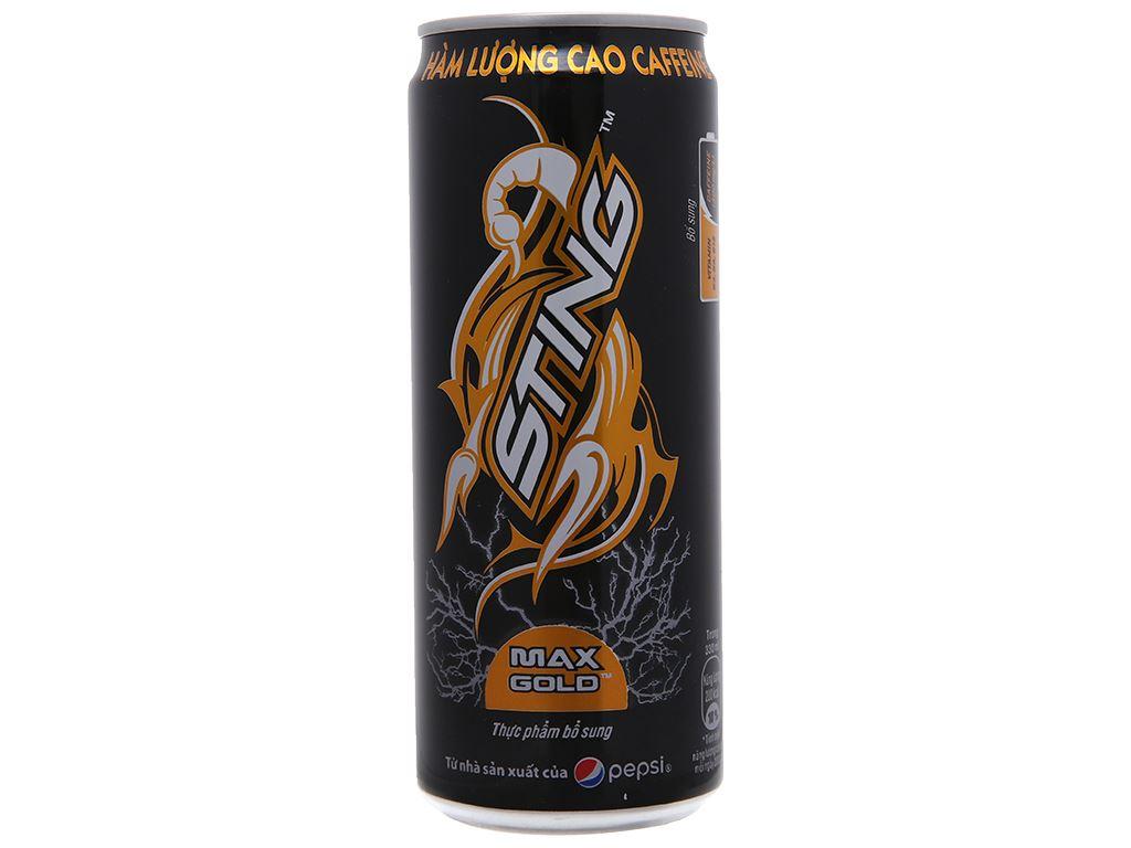 6 lon nước tăng lực Sting Max Gold 330ml 1