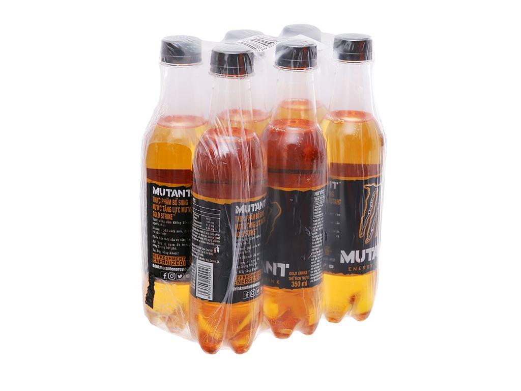 6 chai nước tăng lực Mutant Energy Gold Strike 350ml 1