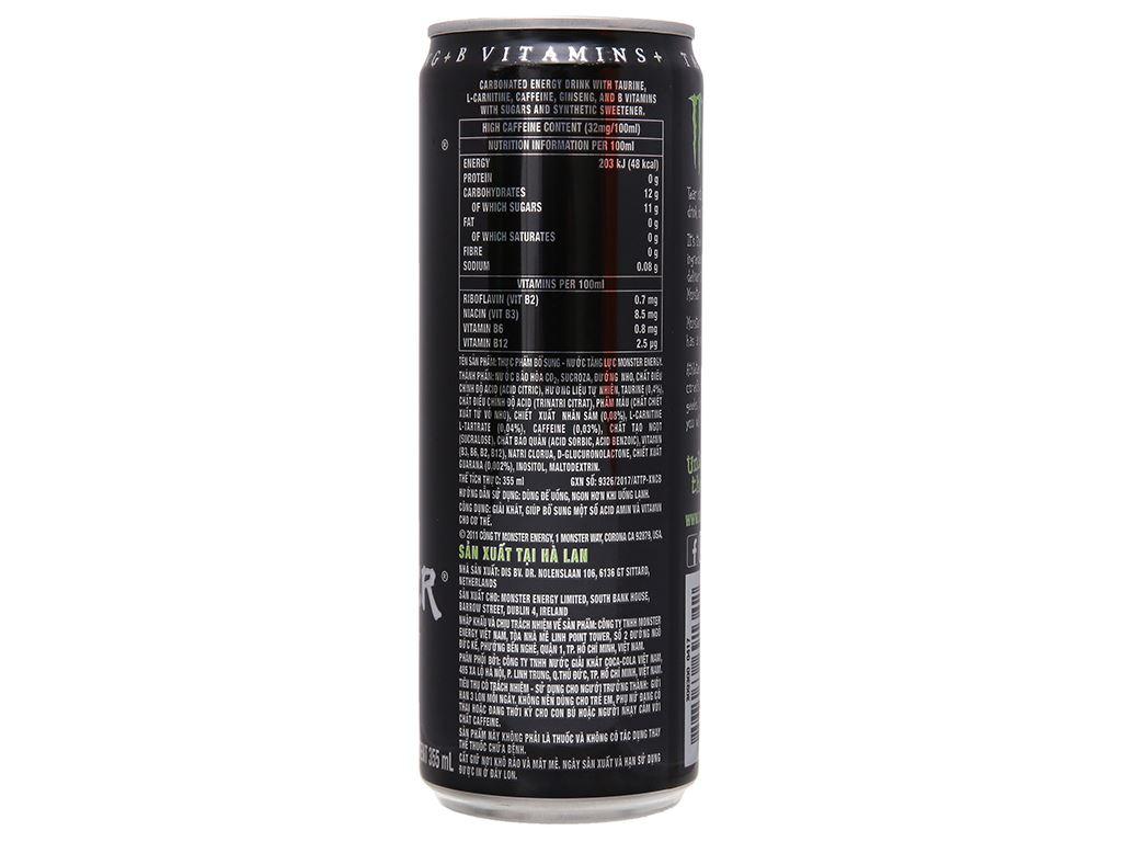 24 lon nước tăng lực Monster Energy 355ml 3