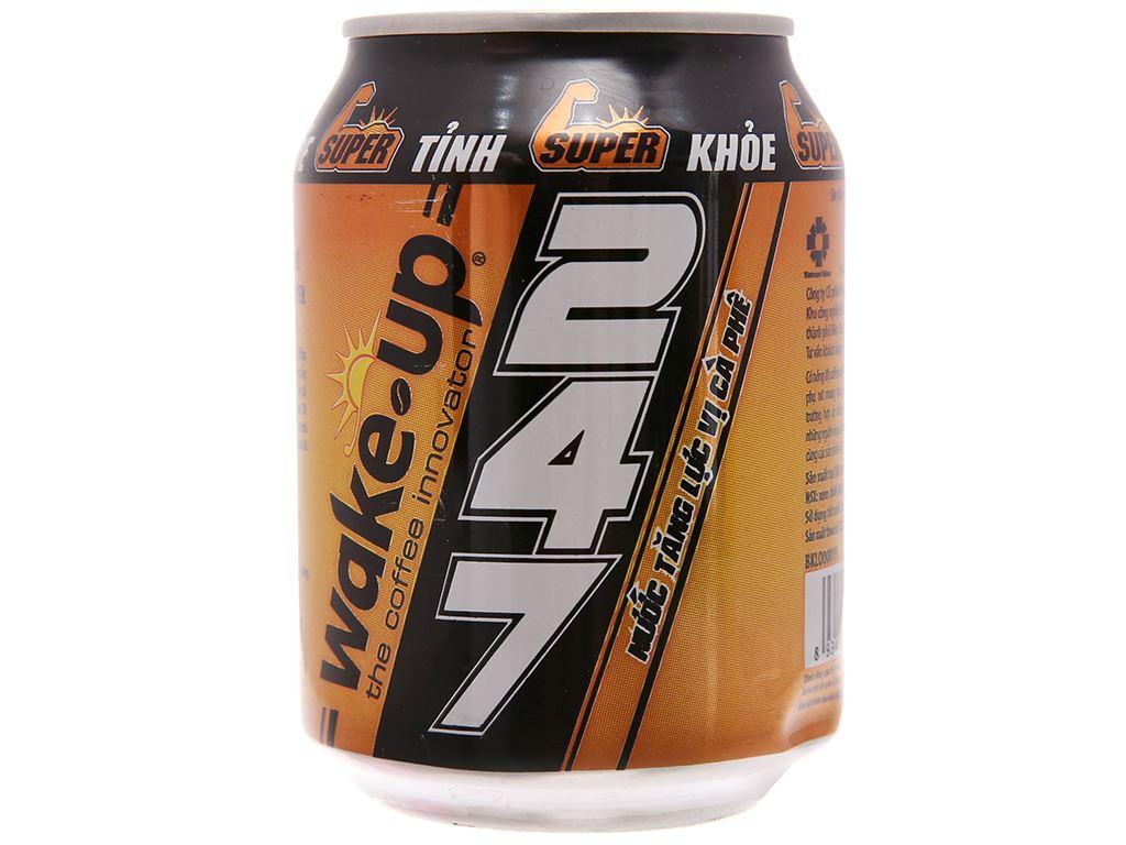 24 lon nước tăng lực Wake Up 247 vị cà phê 250ml 2