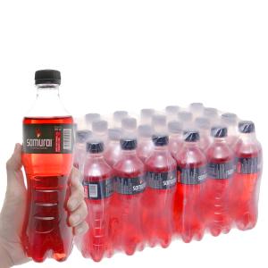 24 chai nước tăng lực Samurai hương dâu 390ml