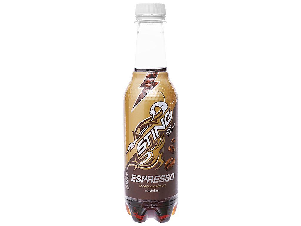 24 chai nước tăng lực Sting Espresso vị cà phê 330ml 2