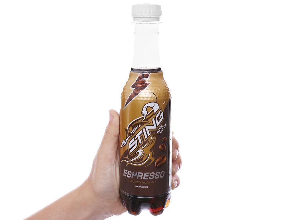 24 chai nước tăng lực Sting Espresso vị cà phê 330ml 4