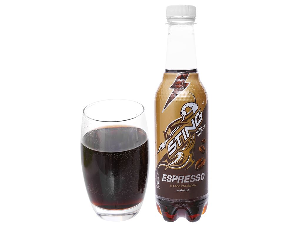 24 chai nước tăng lực Sting Espresso vị cà phê 330ml 5