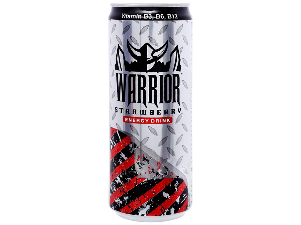 24 lon nước tăng lực Warrior hương dâu 325ml 2
