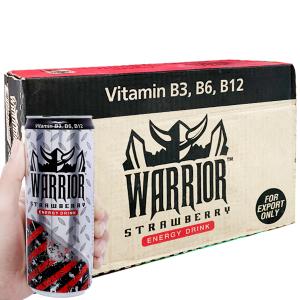 24 lon nước tăng lực Warrior hương dâu 325ml