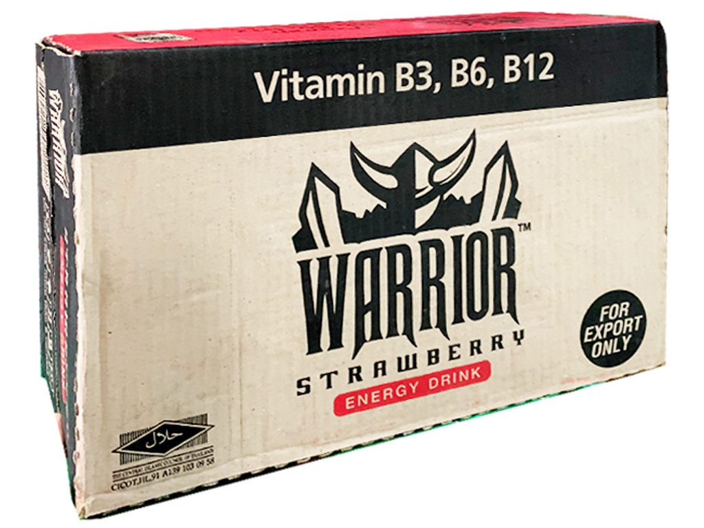 24 lon nước tăng lực Warrior hương dâu 325ml 1