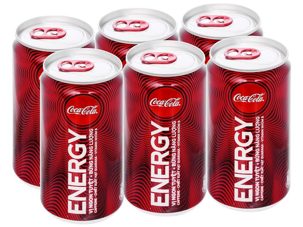 6 lon nước tăng lực Coca Cola Energy 250ml 1