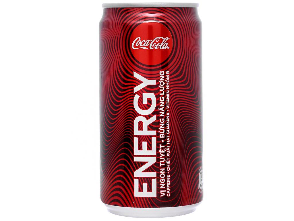 6 lon nước tăng lực Coca Cola Energy 250ml 2