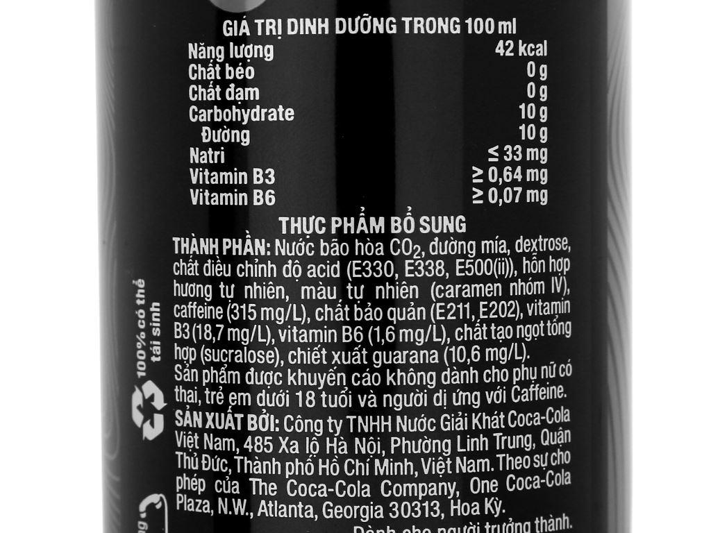 24 lon nước tăng lực Coca Cola Energy 250ml 4