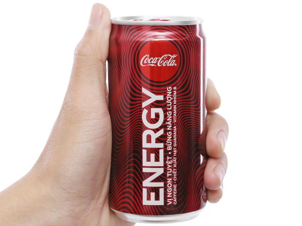 24 lon nước tăng lực Coca Cola Energy 250ml 5