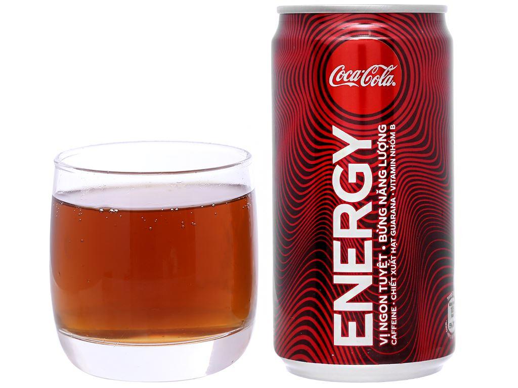 24 lon nước tăng lực Coca Cola Energy 250ml 6