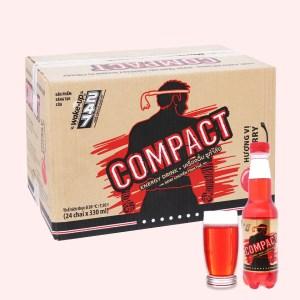 24 chai nước tăng lực Compact vị cherry 330ml