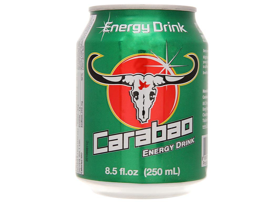 24 lon nước tăng lực Carabao 250ml 3