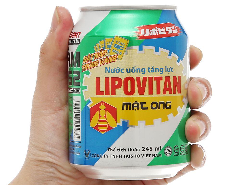 Thùng 24 lon nước tăng lực Lipovitan mật ong 250ml 6