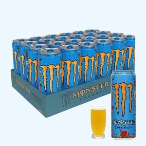 Thùng 24 lon nước tăng lực Monster Energy Mango vị xoài 355ml
