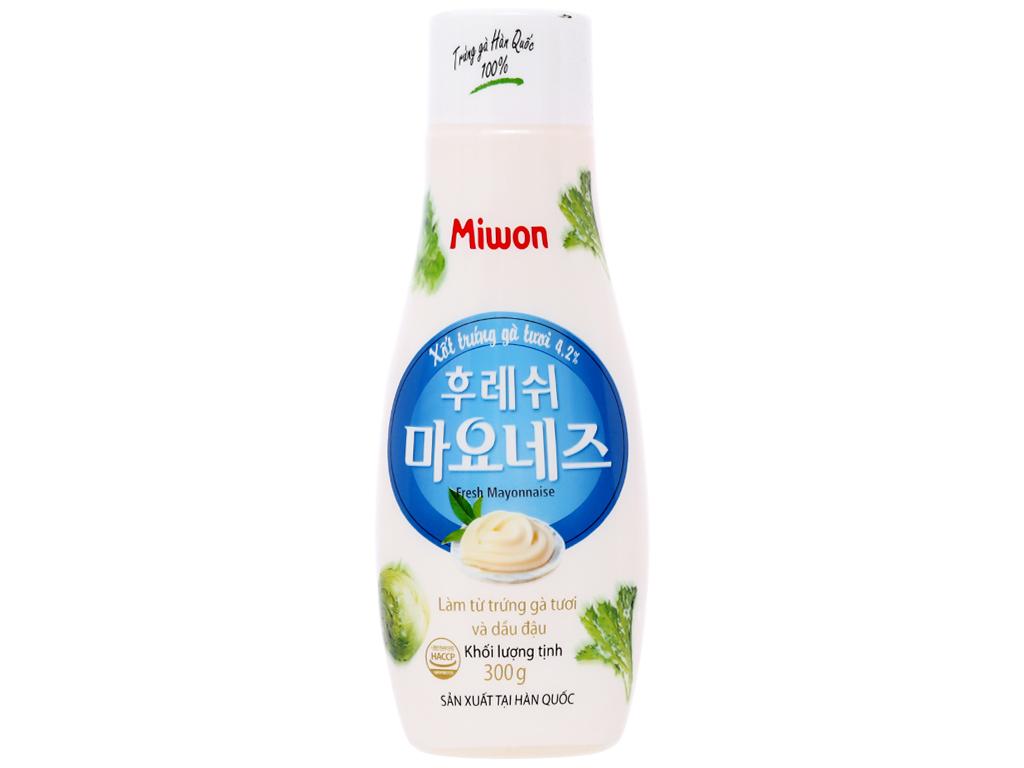 Xốt trứng gà tươi Miwon Fresh Mayonnaise chai 300g 1