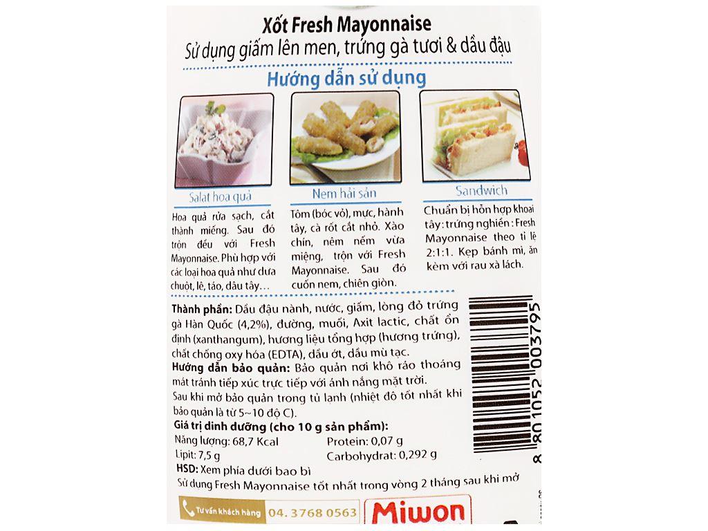 Xốt trứng gà tươi Miwon Fresh Mayonnaise chai 300g 5
