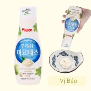 Xốt trứng gà tươi Miwon Fresh Mayonnaise chai 300g