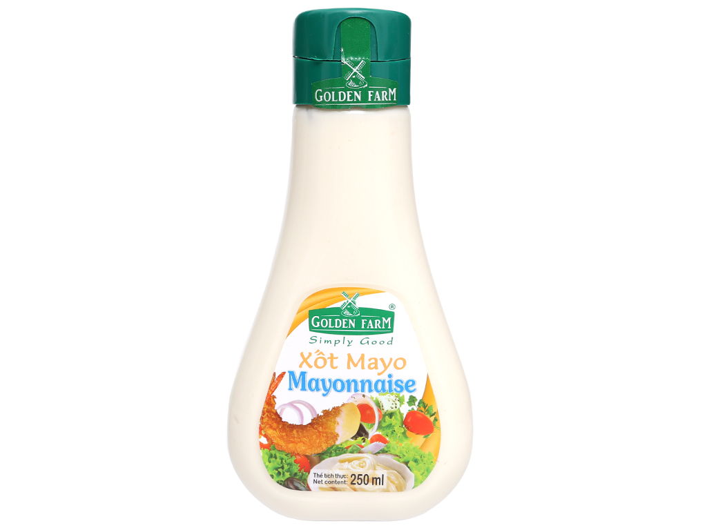Xốt mayonnaise Golden Farm chai 250ml 1