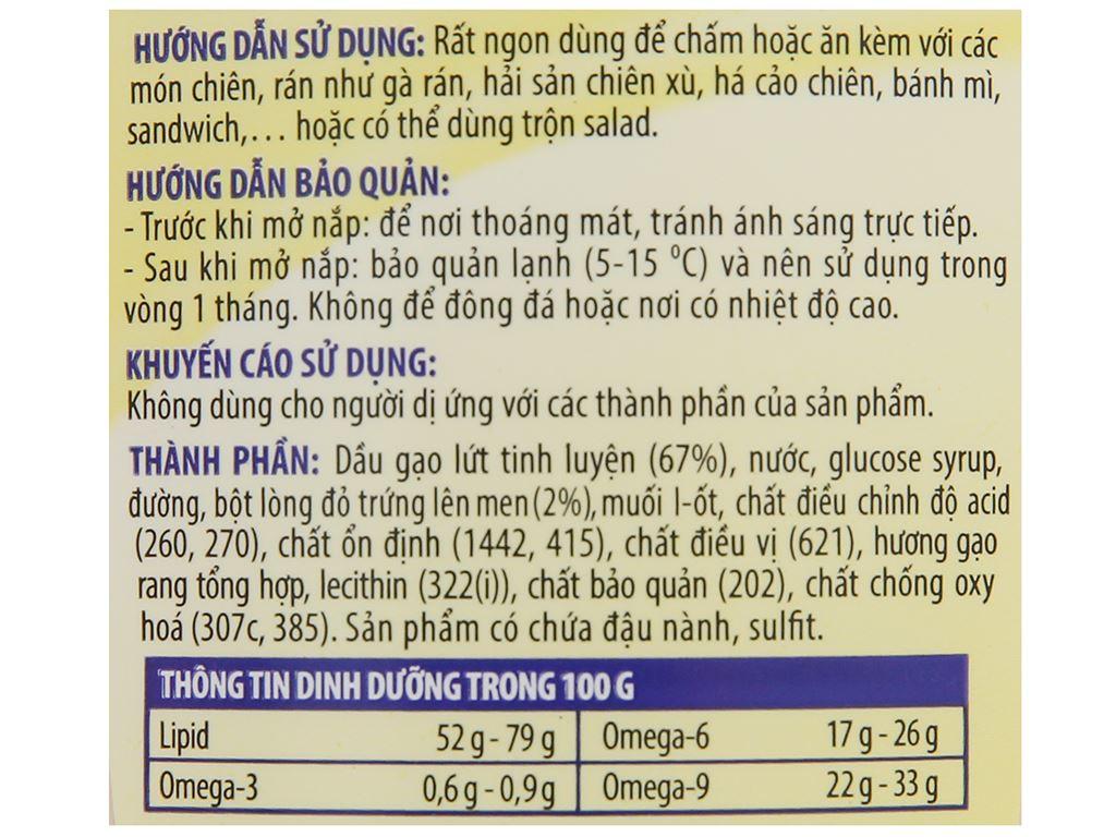 Sốt mayonnaise Simply hương gạo rang chai 230g 3
