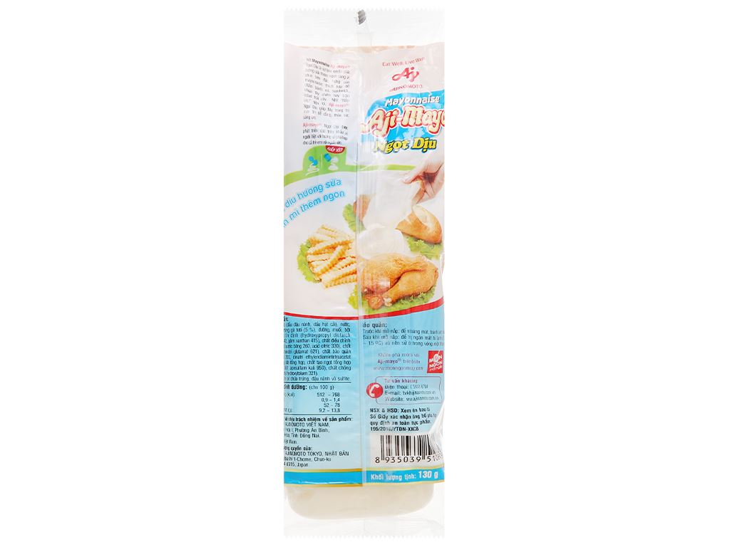 Sốt mayonnaise Aji-mayo Ajinomoto ngọt dịu chai 130g 2