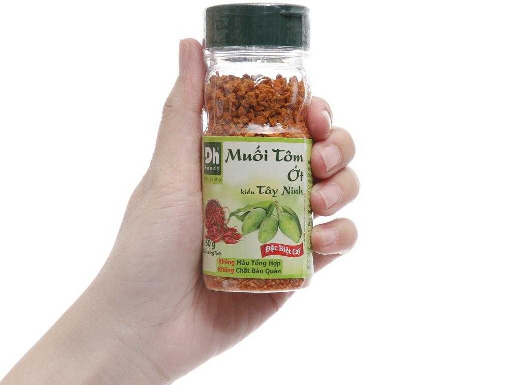 Muối tôm ớt kiểu tây ninh Dh Foods hũ 60g 3
