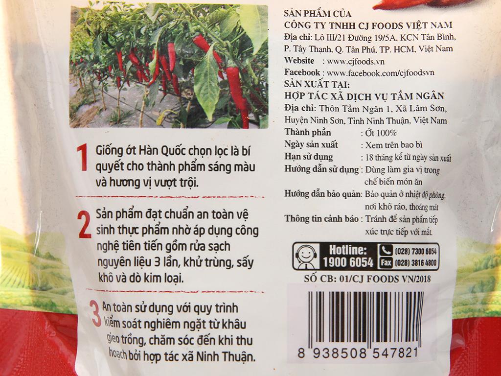 Ớt bột Ninh Thuận CJ Food gói 100g 5
