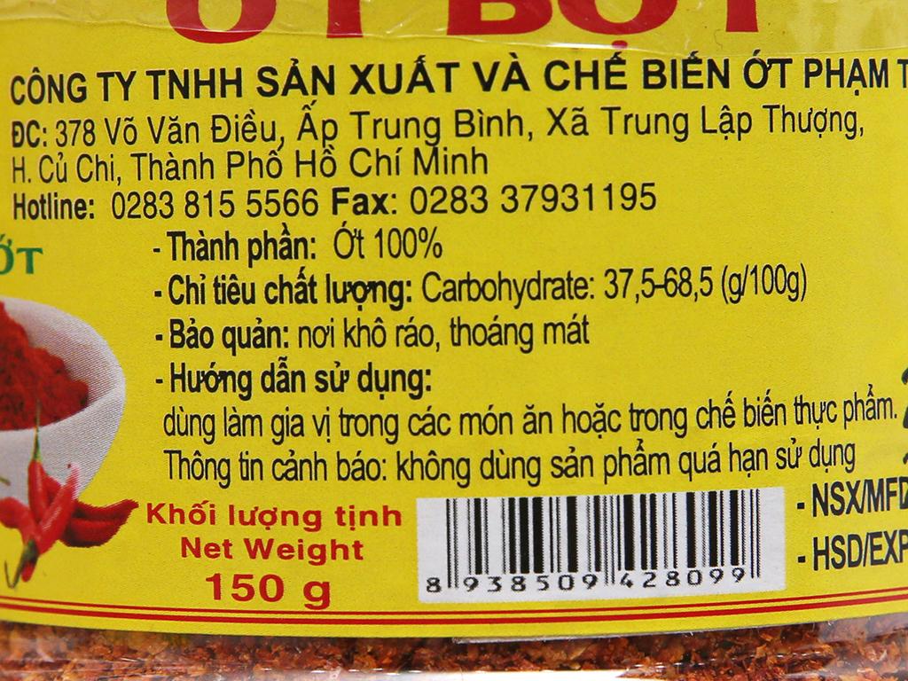 Ớt bột Phạm Tân hũ 150g 2