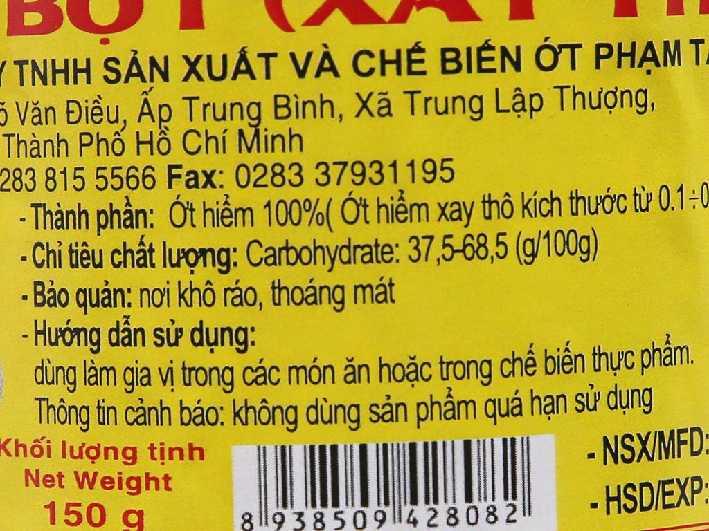 Ớt bột xay thô Phạm Tân hũ 150g 2
