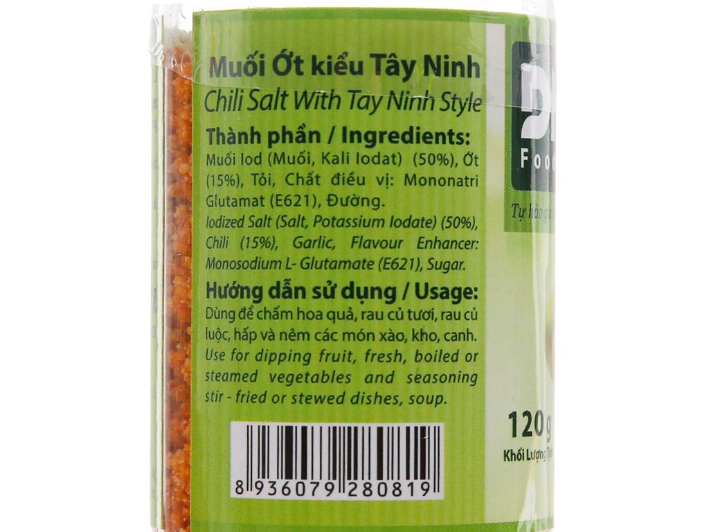 Muối ớt kiểu Tây Ninh Dh Foods hũ 120g 2