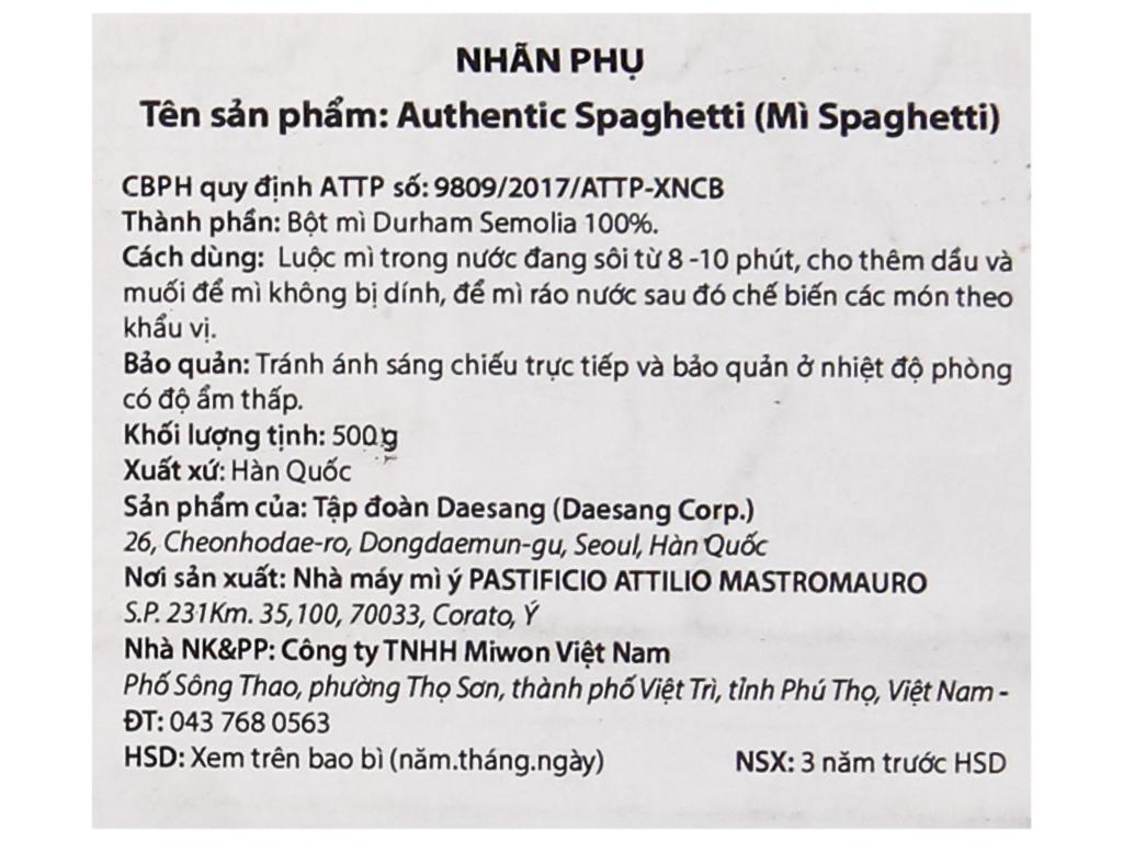 Mì spaghetti Miwon gói 500g 4