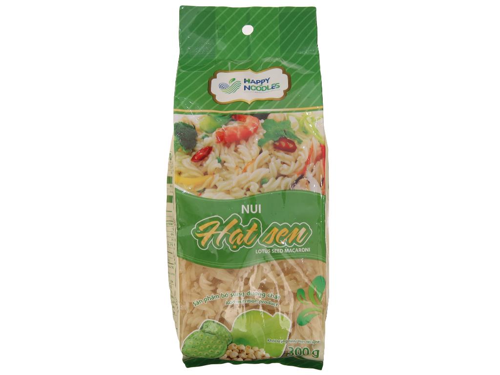 Nui hạt sen dạng xoắn Happy Noodles gói 300g 1