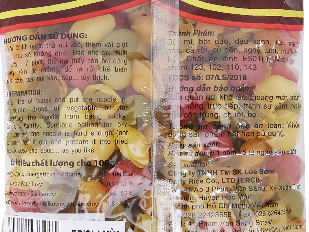 Nui rau củ hình sò lớn Bốn mùa Erci gói 200g 4