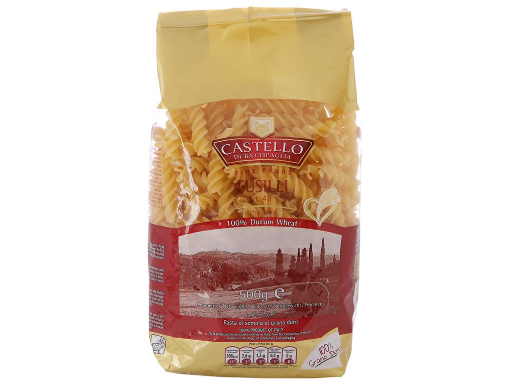 Nui xoắn số 48 Fusilli Castello hộp 500g 2