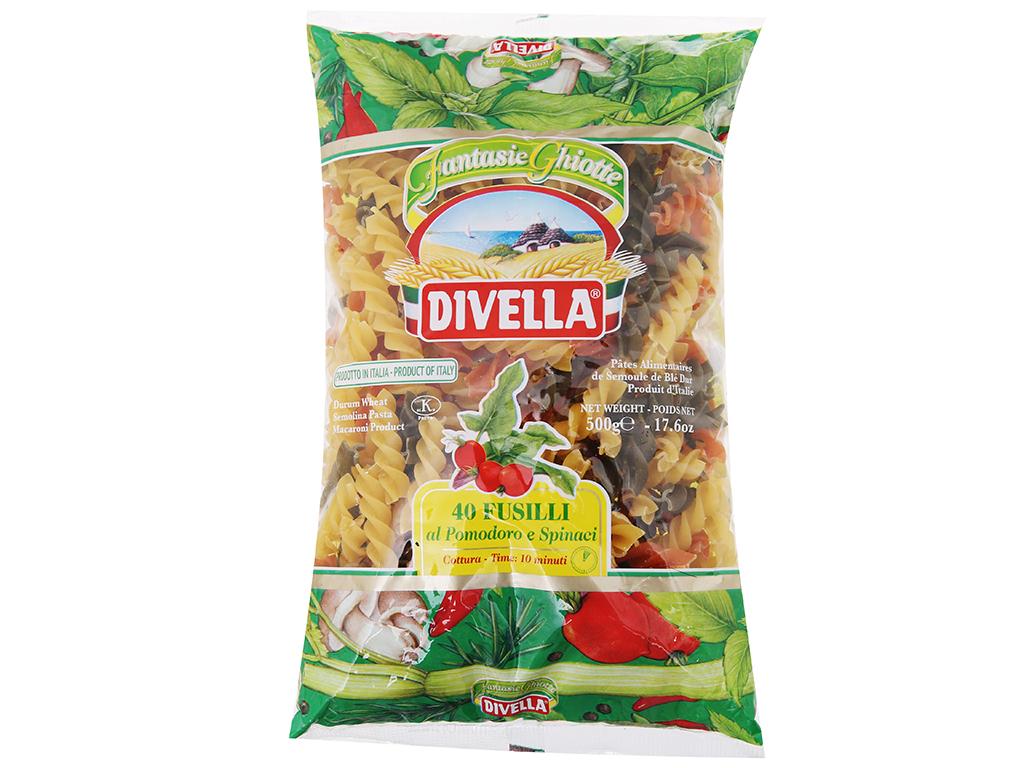 Nui rau củ dạng xoắn số 40 Fusilli Divella gói 500g 2