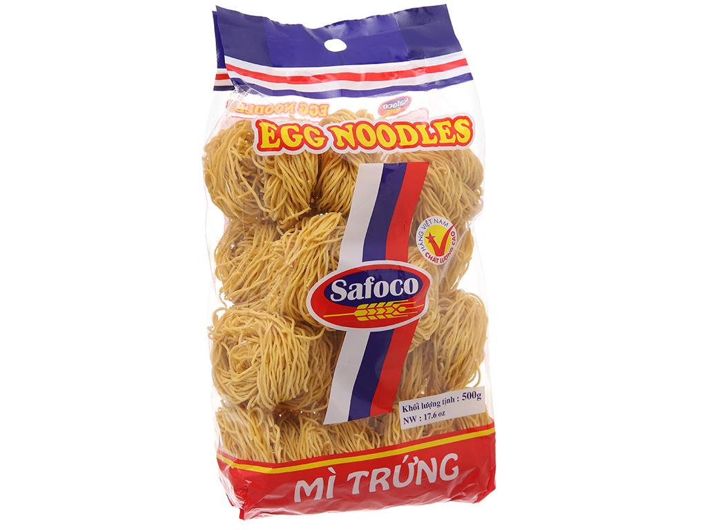 Mì trứng sợi nhỏ Safoco gói 500g 2