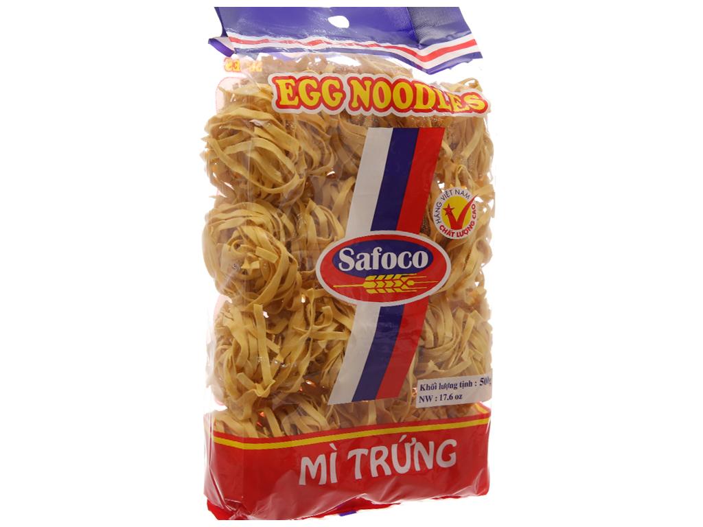 Mì trứng sợi dẹp Safoco gói 500g 2