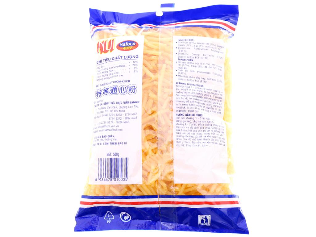 Nui ống nhỏ Macaroni Safoco gói 500g 2