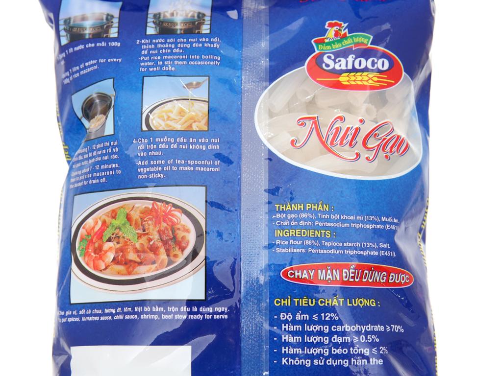 Nui gạo ống lớn Safoco gói 400g 3