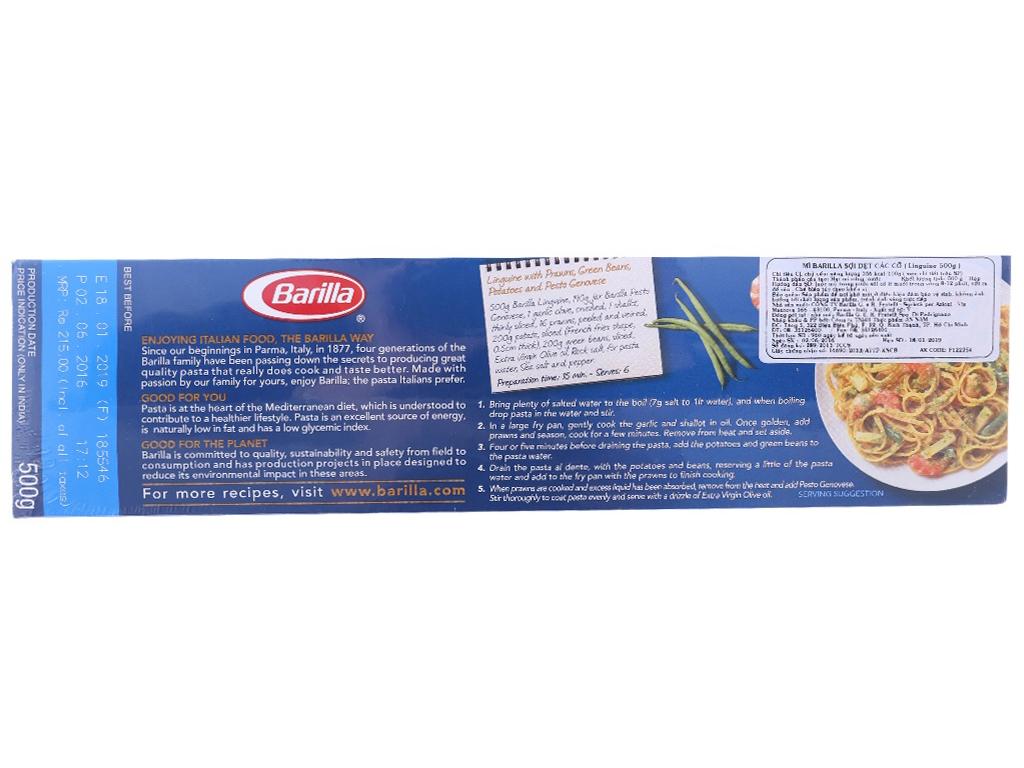 Mì Ý sợi dẹp Linguine Barilla hộp 500g 2