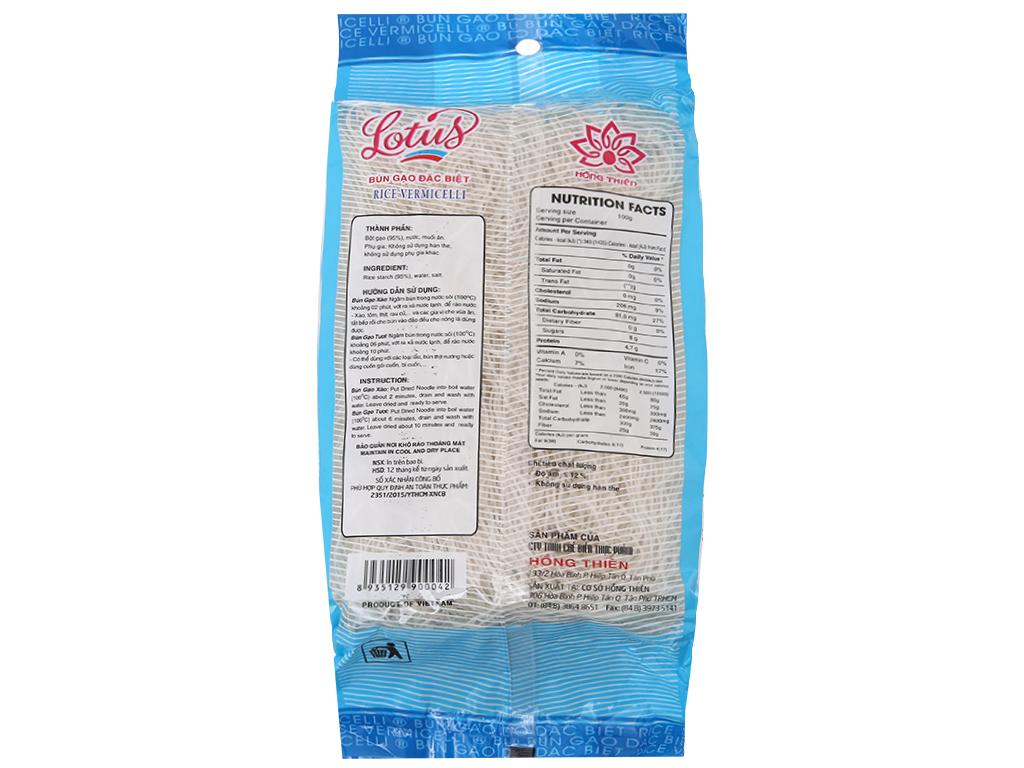 Bún gạo khô Lotus gói 400g 3