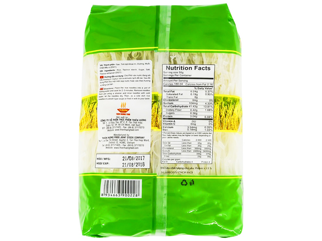 Phở khô Vị Hương gói 500g 2
