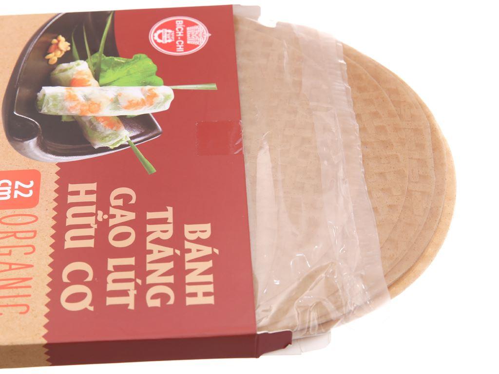 Bánh tráng gạo lứt hữu cơ 22cm Bích Chi hộp 200g 4