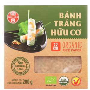 Bánh tráng hữu cơ 22cm Bích Chi hộp 200g